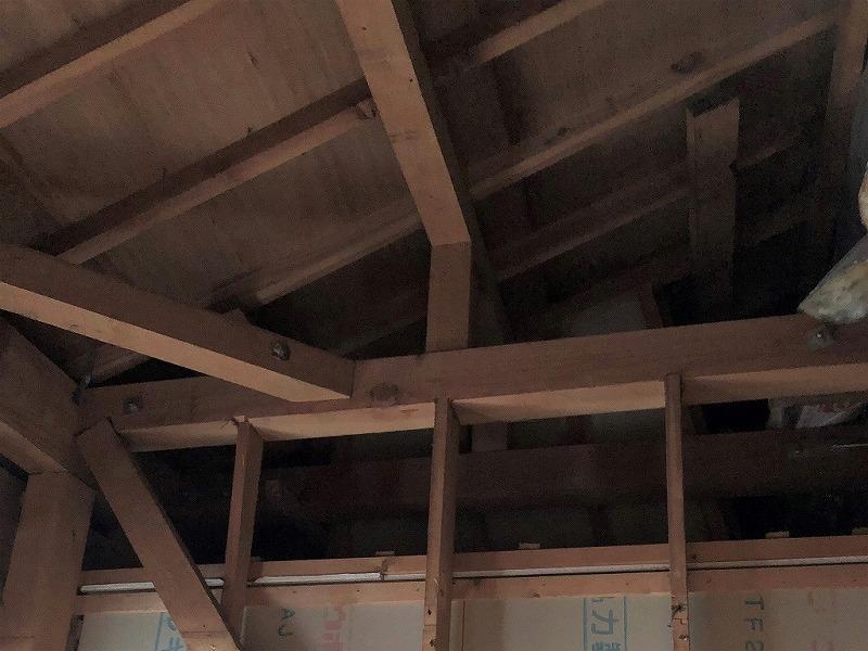 6.天井解体後の写真です