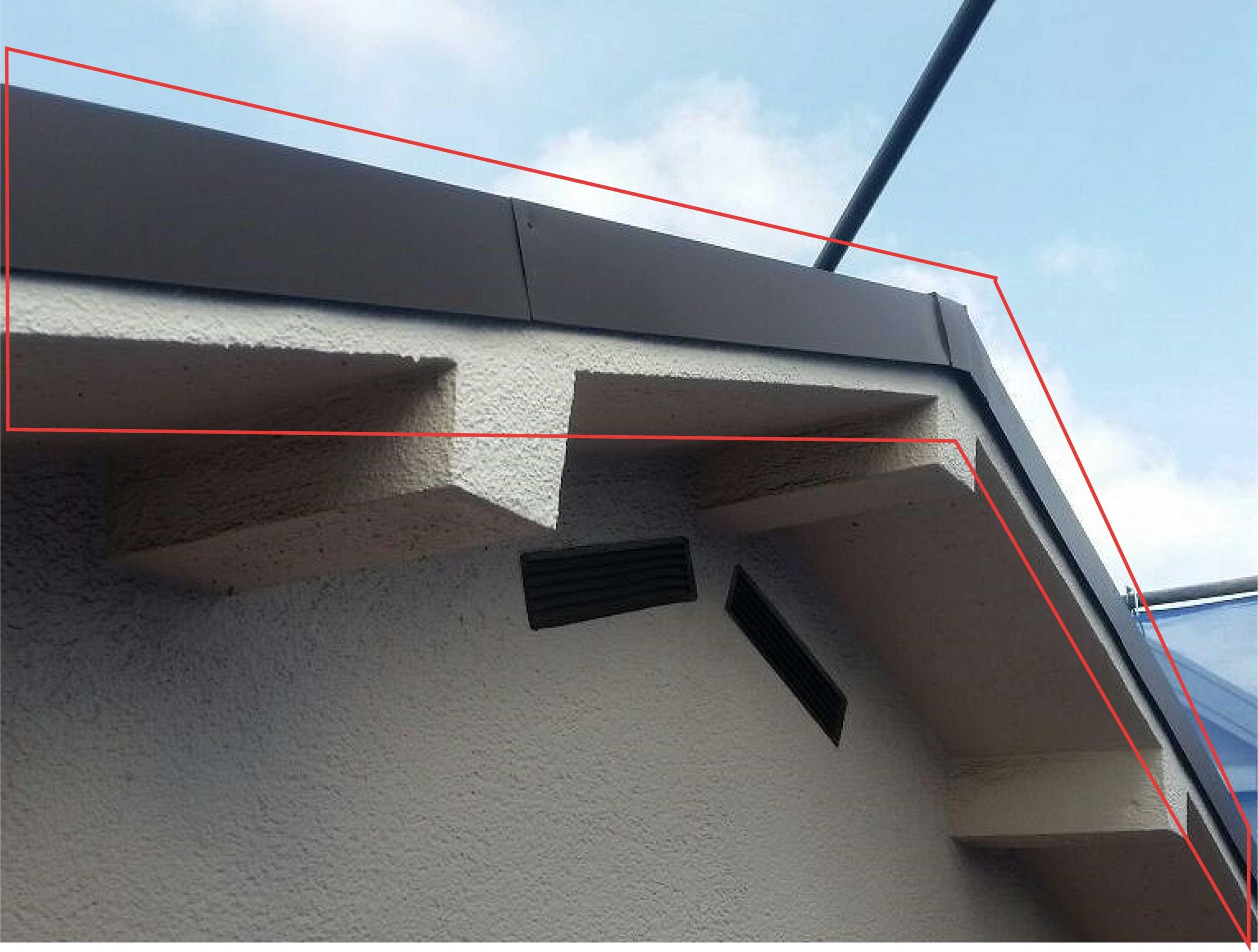 7.屋根のケラバ部分は、板金にて処置を行います